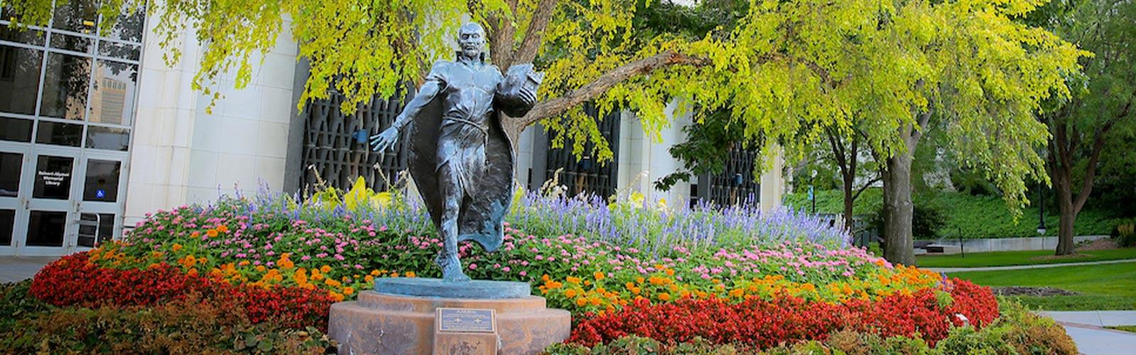 Statue of St. Ignatius on the Creighton Campus
