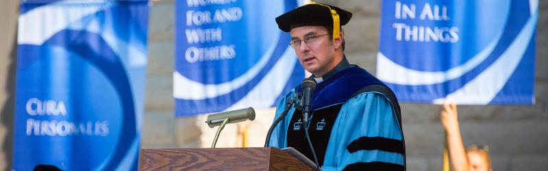Fr. Hendrickson address at Welcome Week