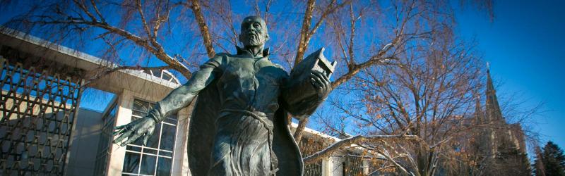 St. Ignatius Statue on Creighton University Campus
